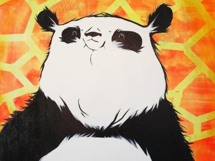 Panda maleri (gul)
