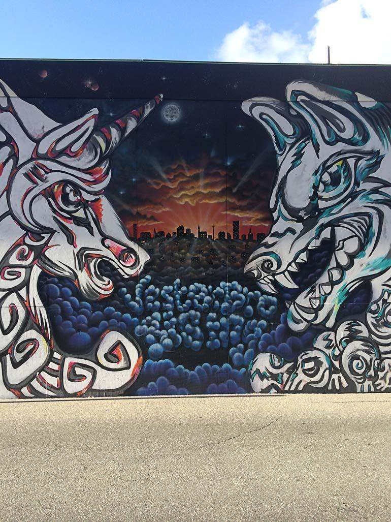 Flot gadekunst på Vesterbro af Tabita Henriksen