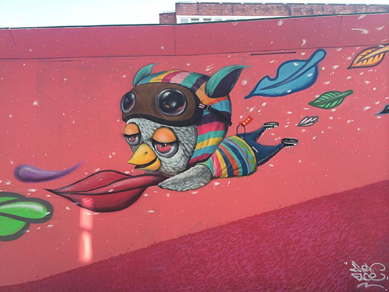 Graffiti kunst på Vesterbro i København