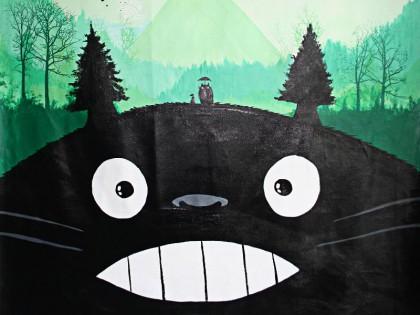 Min nabo Totoro maleri