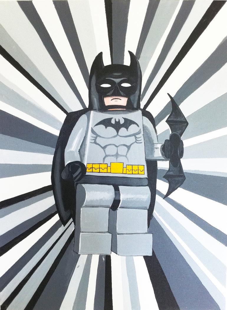 Batman maleri. Sejt maleri med Batman til børneværelset.