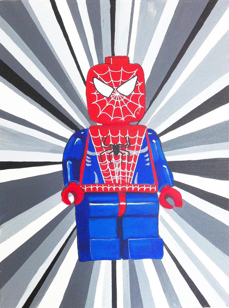 Spiderman superhelte maleri af Kamilla Ruus