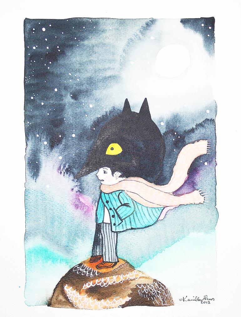 Akvarelkunst til billedevæg af Kamilla Ruus