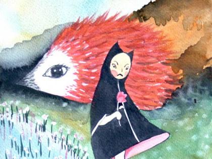 Pindsvin maleri (Natures Work)