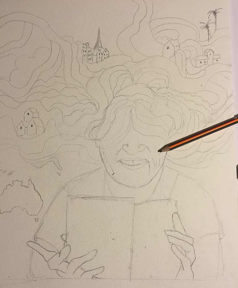 Fra skitse til maleri