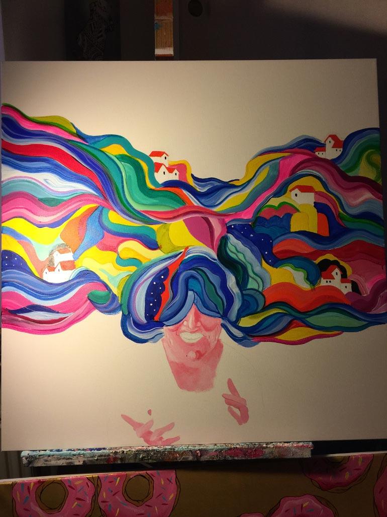 Malerprocessen til personligt maleri
