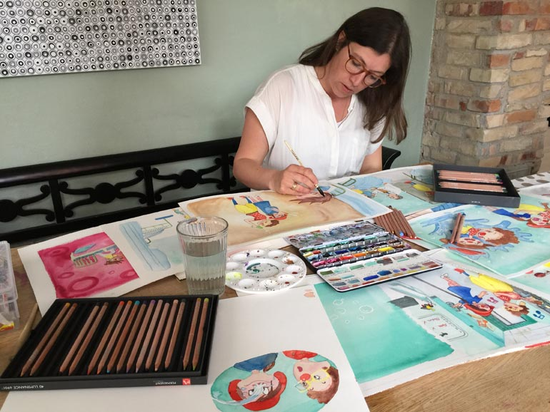 Kamilla Ruus illustrerer bog