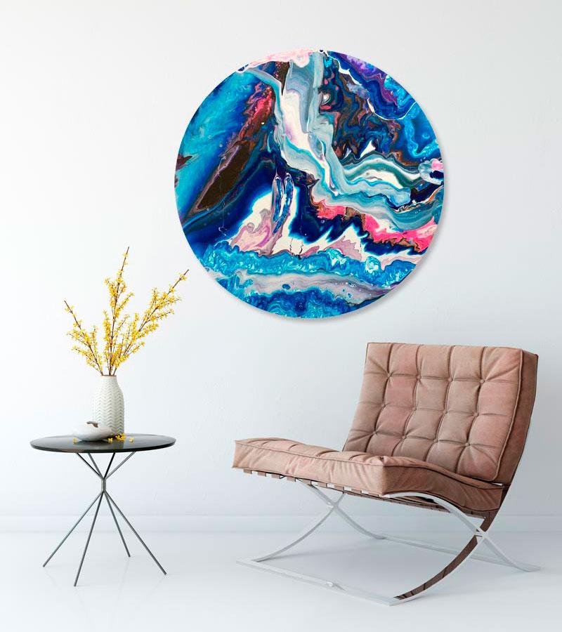 Refleksion abstrakt maleri af Kamilla Ruus