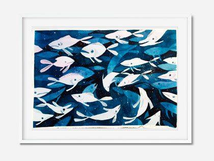 Maleri med fisk