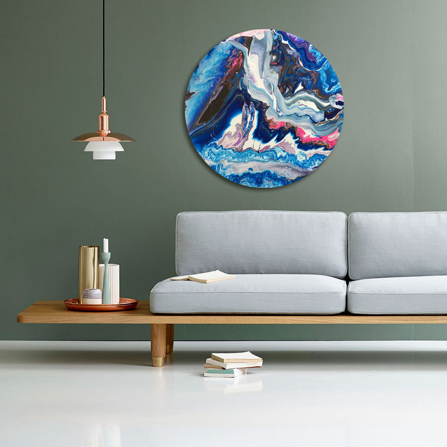 Abstrakte malerier af Kamilla Ruus