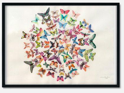 Maleri med sommerfugle