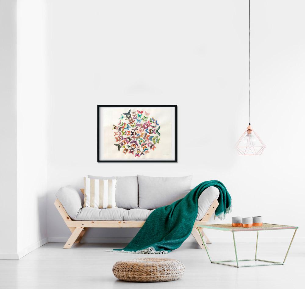 Sommerfugle maleri af Kamilla Ruus