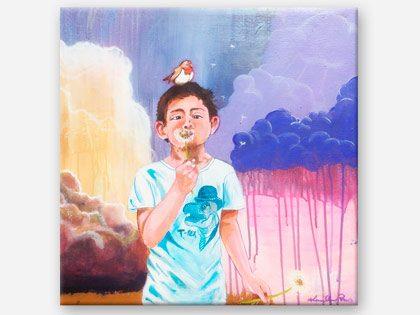 Oskar – Dreng blæser mælkebøtter