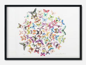 A3 sommerfugle print