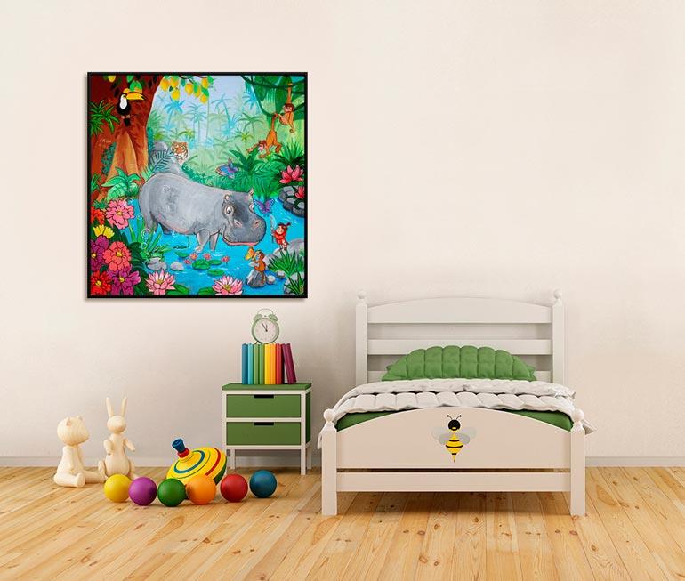 Anderledes dåbsgave er et maleri af Kamilla Ruus