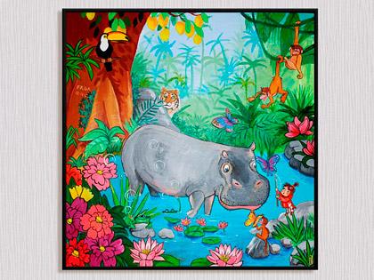 Et maleri er en unik barnedåbsgave af Kamilla Ruus