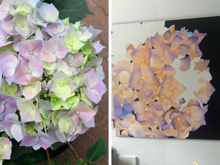 Blomstermalerier til salg af Kamilla Ruus