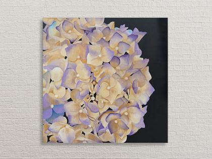 Hortensia blomster maleri af Kamilla Ruus