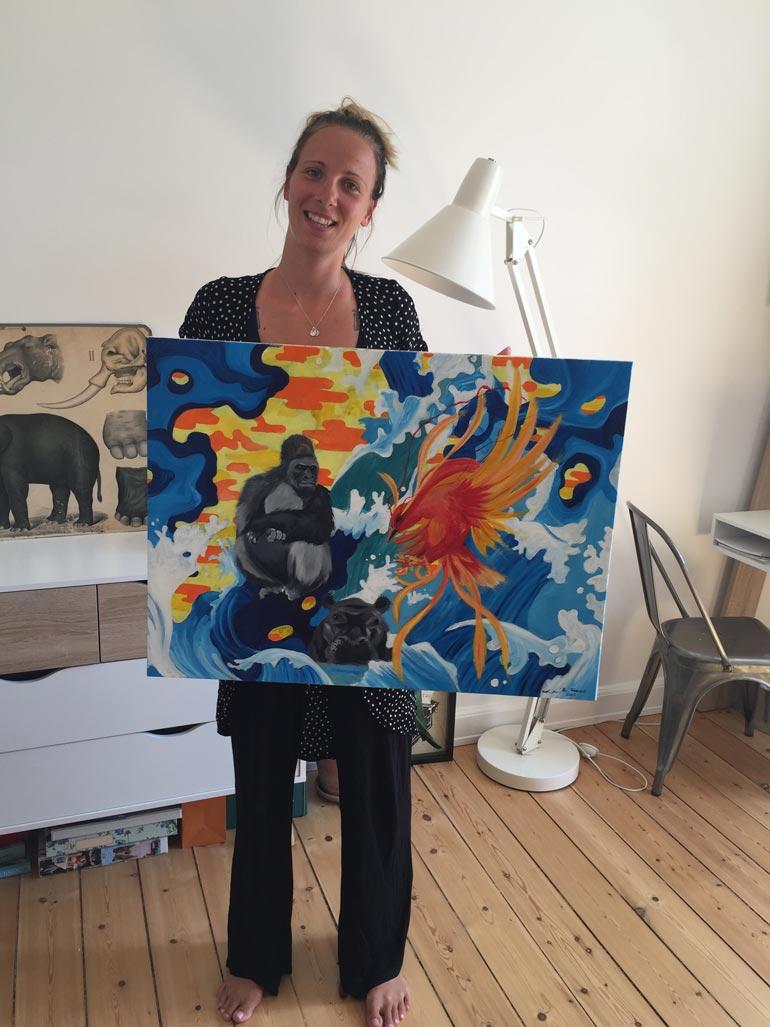 Et maleri som perfekt bryllypgave af Kamilla Ruus
