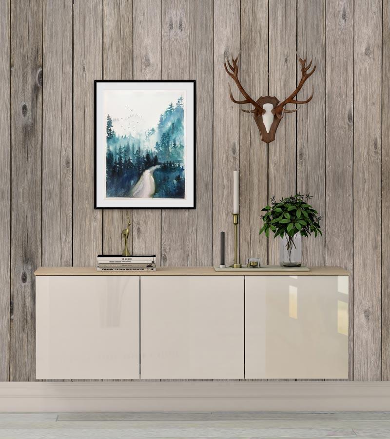 Maleri med skovsti af Kamilla Ruus