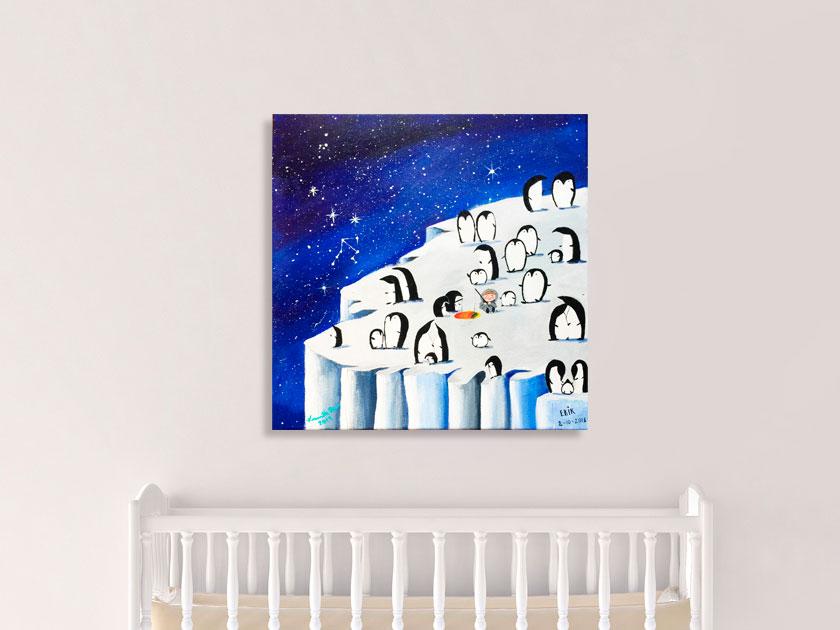 Dåbsgave til dreng et maleri af Kamilla Ruus
