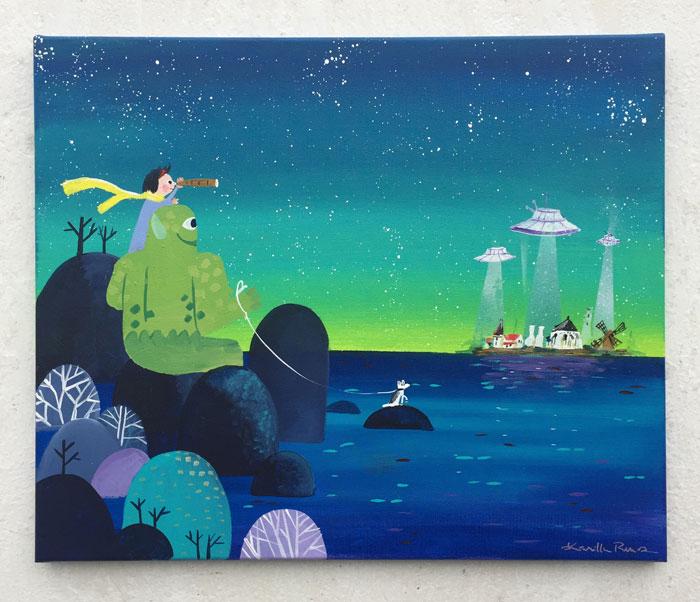 Giv kunst af Kamilla Ruus som en personlig gave til barnedåb