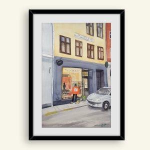 Akvarel Tokyo Vintage malerier af Kamilla Ruus