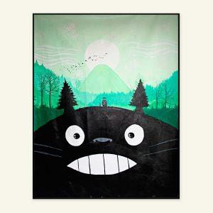 Min nabo Totoro maleri af Kamilla Ruus