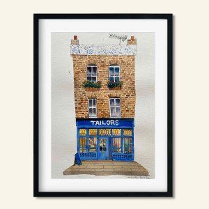 Akvarel maleri London Tailors