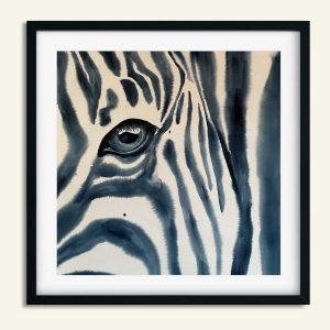 Maleri med zebra øje af Kamilla Ruus