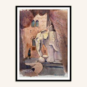 Indrammet maleri af Carlsberg porten